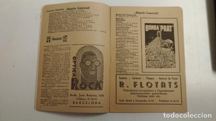 Folletos de turismo: Hotel Gran via Barcelona. Numenclator de espectaculos Barcelona. 1951 Barcelona del 2 al 8 de Abril - Foto 5 - 136350838