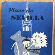 Folletos de turismo: PLANO DE SEVILLA - DESPLEGABLE EN 14 PÁGINAS - AÑO 1965. Lote 136524686