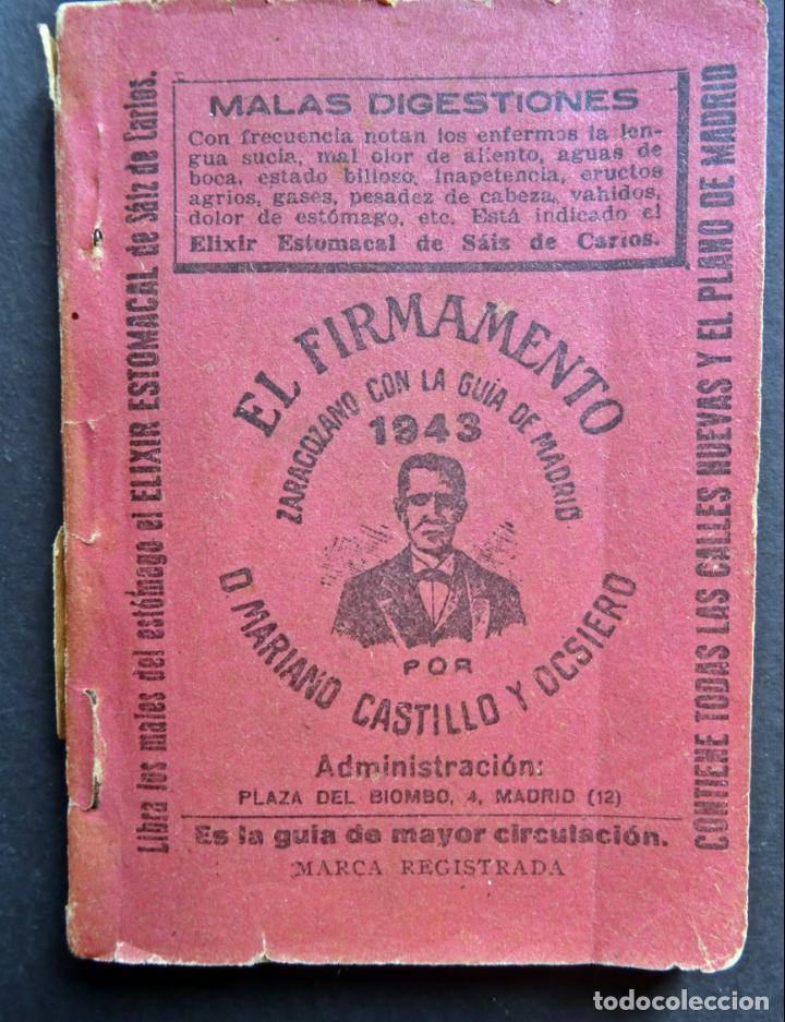CALLEJERO Y CALENDARIO DE MADRID EL FIRMAMENTO DEL AÑO 1943 (Coleccionismo - Folletos de Turismo)