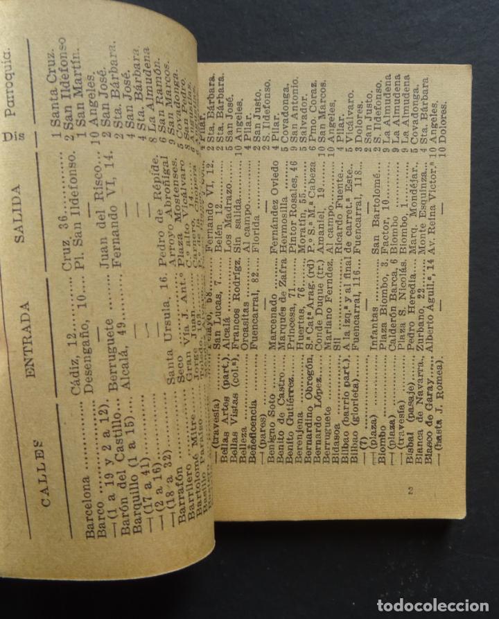 Folletos de turismo: Callejero y calendario de Madrid EL FIRMAMENTO del año 1943 - Foto 3 - 138793506