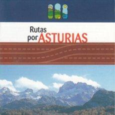 Folletos de turismo: ASTURIAS PARAÍSO NATURAL. RUTAS POR ASTURIAS.. Lote 139206550