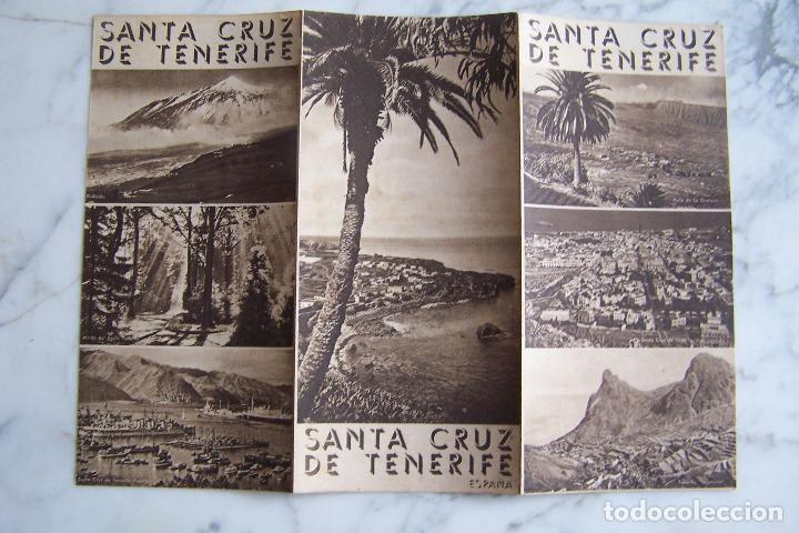 FOLLETO DE TURISMO SANTA CRUZ DE TENERIFE. (Coleccionismo - Folletos de Turismo)