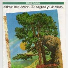 Folletos de turismo: SIERRAS DE CAZORLA, SEGURA Y LAS VILLAS. Lote 140629998