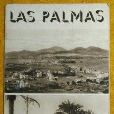 Folhetos de turismo: FOLLETO TRIPTICO DEL PATRONATO NACIONAL DE TURISMO - LAS PALMAS - MEDIADOS S. XX.. Lote 141380730