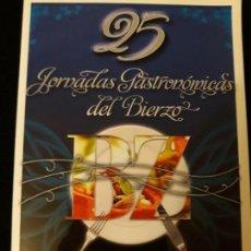 Folletos de turismo: LIBRETO JORNADAS GASTRONÓMICAS DEL BIERZO, 2009.. Lote 142468714