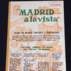 Folletos de turismo: ANTIGUO PLANO DE MADRID TURISTICO Y DESCRIPTIVO-EDICION P.COLLADO-AÑO 1952.. Lote 142562484