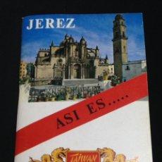 Folletos de turismo: BREVE RESEÑA HISTORICA- JEREZ ASI ES....-.CON PLANOS EN LA ULTIMA PAGINA.. Lote 142565426