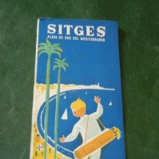 Folletos de turismo: ANTIGUO FOLLETO PROMOCIONAL SITGES FINCAS BUTI. Lote 143039754