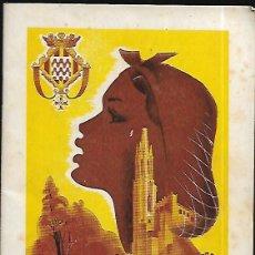 Folletos de turismo: PROGRAMA FERIAS Y FIESTAS ST. NARCIS - 1953. Lote 143532350