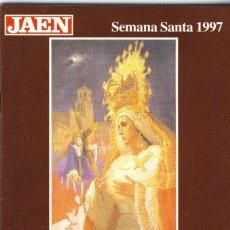 Folletos de turismo: JAÉN.- SEMANA SANTA DE 1997.- GUÍA DE HORARIOS, ITINERARIOS Y PASOS.. Lote 143619942