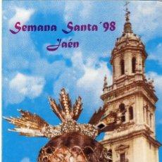 Folletos de turismo: JAÉN.- SEMANA SANTA DE 1998.- GUÍA DE HORARIOS, ITINERARIOS Y PASOS. . Lote 143620478