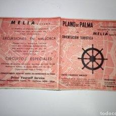 Folletos de turismo: PLANO DE PALMA DE MALLORCA DE ORIENTACIÓN TURÍSTICA 1958. Lote 143650849