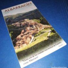 Folletos de turismo: ALBARRACÍN (TERUEL, ARAGÓN) - PLANO GUÍA MAPA RUTAS. Lote 143655098