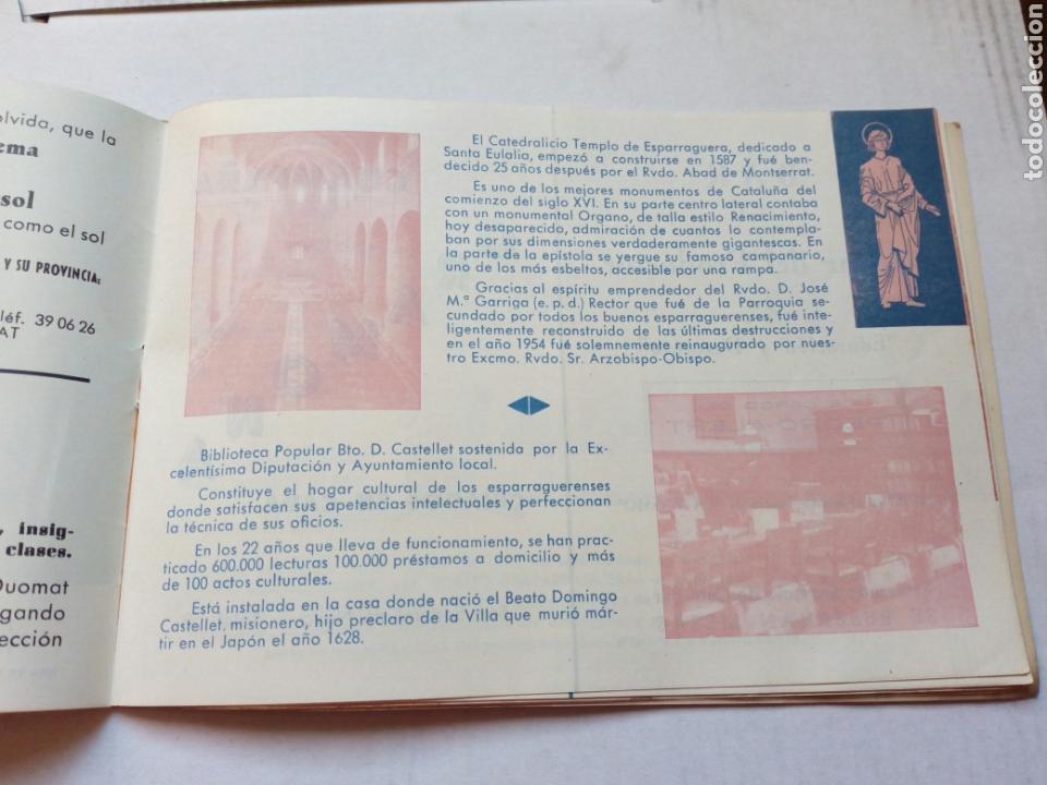 Folletos de turismo: Guia del visitante de la passio d esparraguera.año 1961.catalunya.barcelona.turismo.semana santa.rel - Foto 3 - 144929232