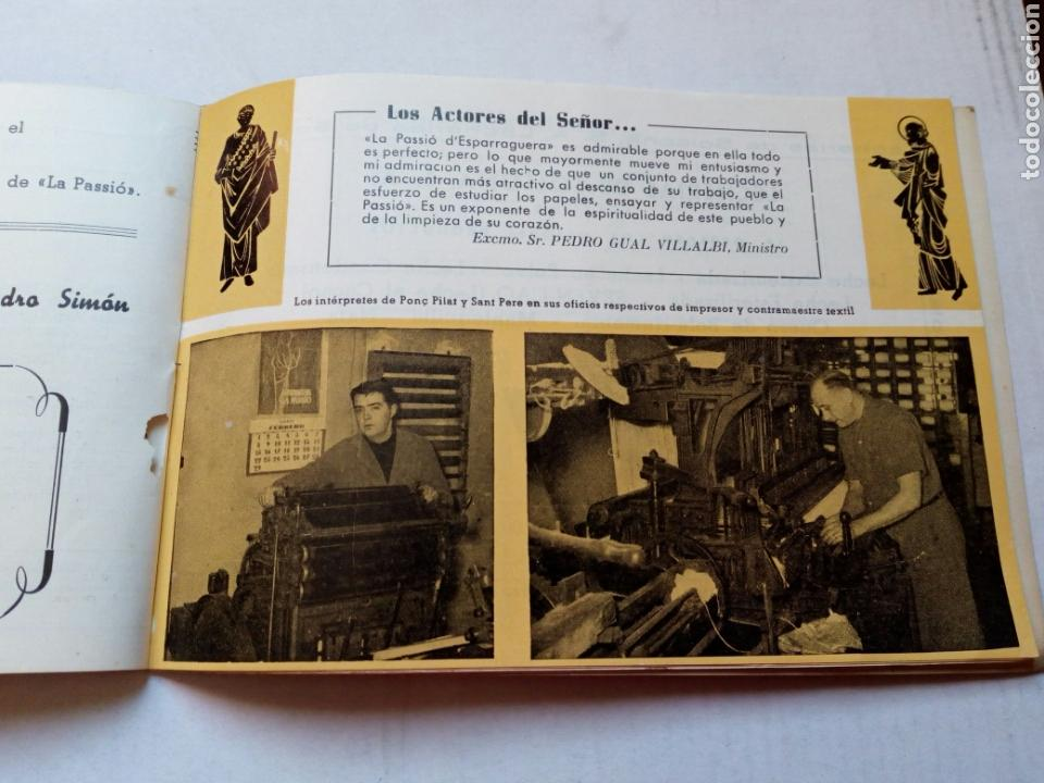 Folletos de turismo: Guia del visitante de la passio d esparraguera.año 1961.catalunya.barcelona.turismo.semana santa.rel - Foto 4 - 144929232