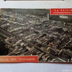 Folletos de turismo: GUIA DEL VISITANTE DE LA PASSIO D ESPARRAGUERA.AÑO 1961.CATALUNYA.BARCELONA.TURISMO.SEMANA SANTA.REL. Lote 144929232