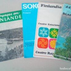 Folletos de turismo: ANTIGUOS FOLLETOS TURISTICOS FINLANDIA AÑOS 60-70. Lote 145065934