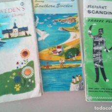 Folletos de turismo: ANTIGUOS FOLLETOS TURISTICOS SUECIA AÑOS 60-70. Lote 145065974