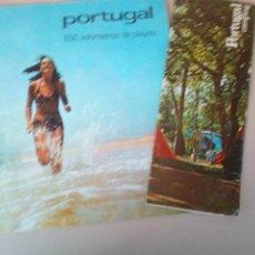 Folletos de turismo: ANTIGUOS FOLLETOS TURISTICOS PORTUGAL AÑOS 60-70. Lote 145066218