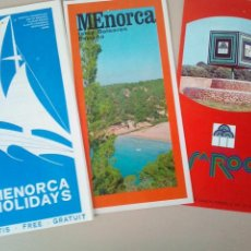 Folletos de turismo: ANTIGUOS FOLLETOS TURISTICOS MENORCA. Lote 145101178