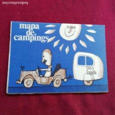 Foglietti di turismo: MAPA DE CAMPINGS 1965. Lote 145352370