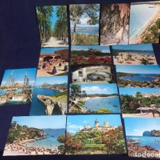 Folletos de turismo: FOMENTO TURISMO MALLORCA FOTO PLANAS MONTANYA 16 FICHAS SOBRE NUEVAS TURISMO BALEAR 16X22CMS. Lote 145569506