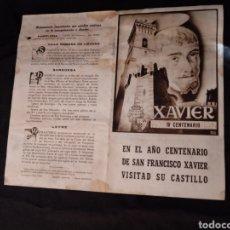 Folletos de turismo: FOLLETO V CENTENARIO XAVIER 1952. ZUBIETA Y RETEGUI. PAMPLONA, NAVARRA, SANGÜESA, LEYRE, LIEDENA. Lote 145819356