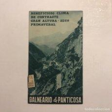 Folletos de turismo: BALNEARIO DE PANTICOSA. Lote 146684602
