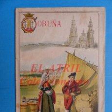 Folletos de turismo: CORUÑA - PROGRAMA GEOGRAFIA POPULAR DE ESPAÑA - AÑO 1902. Lote 147467202