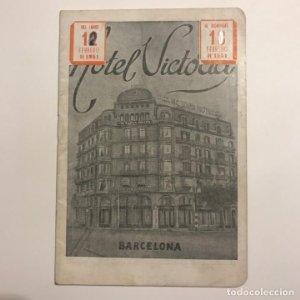 Hotel Victoria. Barcelona. Folleto de turismo