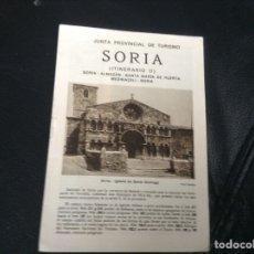 Folletos de turismo: JUNTA PROVINCIAL DE TURISMO SORIA ITINERARIO II. Lote 147598498