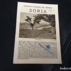 Folletos de turismo: PATRONATO NACIONAL DEL TURISMO SORIA. Lote 147598614