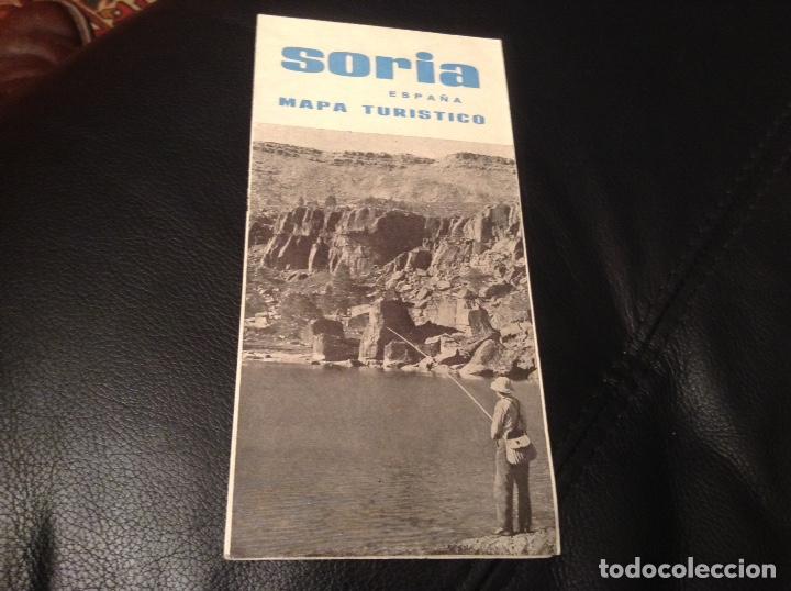 SORIA MAPA TURISTICO Y RUTAS DE INTERES (Coleccionismo - Folletos de Turismo)