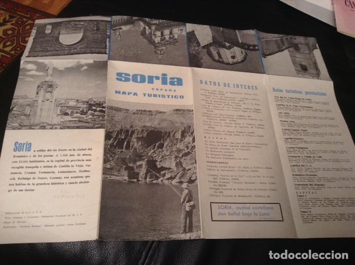 Folletos de turismo: Soria Mapa turistico y rutas de interes - Foto 3 - 147618457