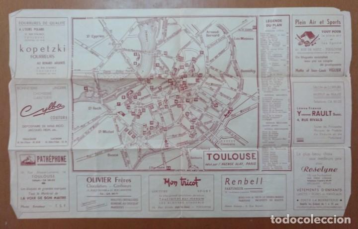 PLAN MONUMENTAL ET TORISTIQUE TOULOUSE (FRANCIA) TURISMO CON PLANO (Coleccionismo - Folletos de Turismo)