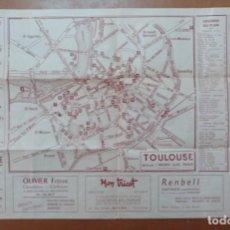 Folletos de turismo: PLAN MONUMENTAL ET TORISTIQUE TOULOUSE (FRANCIA) TURISMO CON PLANO. Lote 147843350