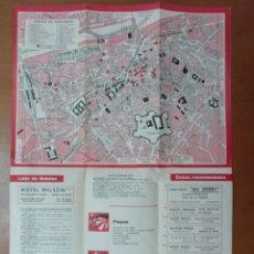 Folletos de turismo: PLANO DE PERPIGNAN (FRANCIA) PUBLICIDAD DE EPOCA. Lote 147843574