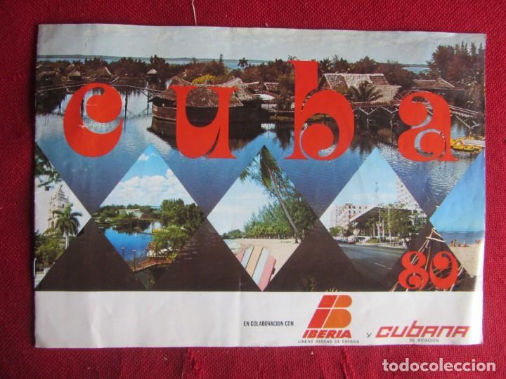 CUBA. IBERIA Y CUBANA. 1980 (Coleccionismo - Folletos de Turismo)