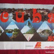 Folletos de turismo: CUBA. IBERIA Y CUBANA. 1980. Lote 147936550