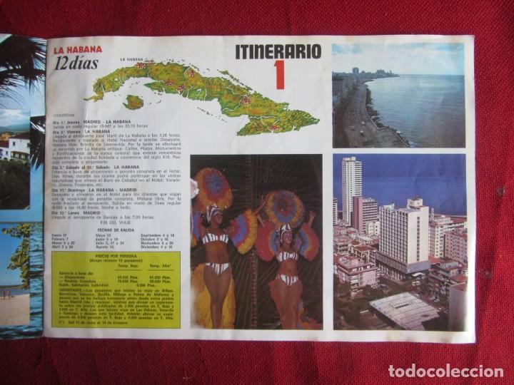 Folletos de turismo: CUBA. IBERIA Y CUBANA. 1980 - Foto 2 - 147936550