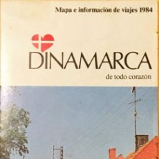 Folletos de turismo: GUIA, MAPA TURISTICO DINAMARCA. AÑO 1984. Lote 148242970