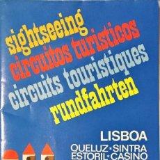 Folletos de turismo: GUIA, MAPA TURISTICO LISBOA. 1992-1993 . Lote 148244810