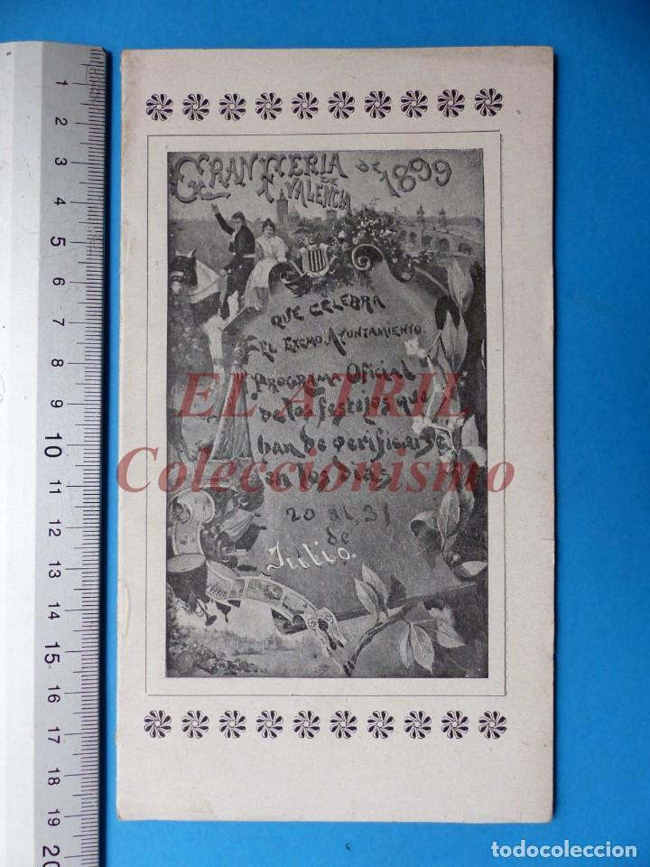 PROGRAMA OFICIAL - VALENCIA - GRAN FERIA DE JULIO - AÑO 1899 (Coleccionismo - Folletos de Turismo)