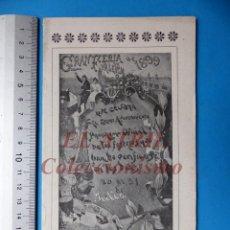 Folletos de turismo: PROGRAMA OFICIAL - VALENCIA - GRAN FERIA DE JULIO - AÑO 1899. Lote 148287502