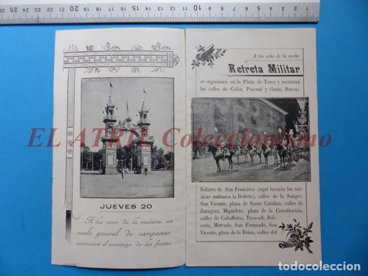 Folletos de turismo: PROGRAMA OFICIAL - VALENCIA - GRAN FERIA DE JULIO - AÑO 1899 - Foto 2 - 148287502