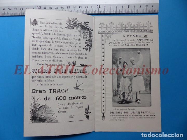 Folletos de turismo: PROGRAMA OFICIAL - VALENCIA - GRAN FERIA DE JULIO - AÑO 1899 - Foto 3 - 148287502