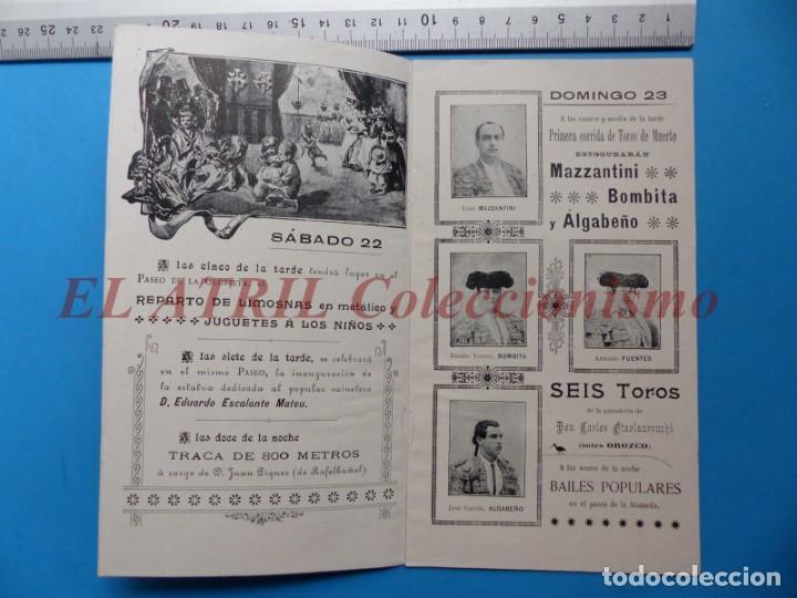 Folletos de turismo: PROGRAMA OFICIAL - VALENCIA - GRAN FERIA DE JULIO - AÑO 1899 - Foto 4 - 148287502