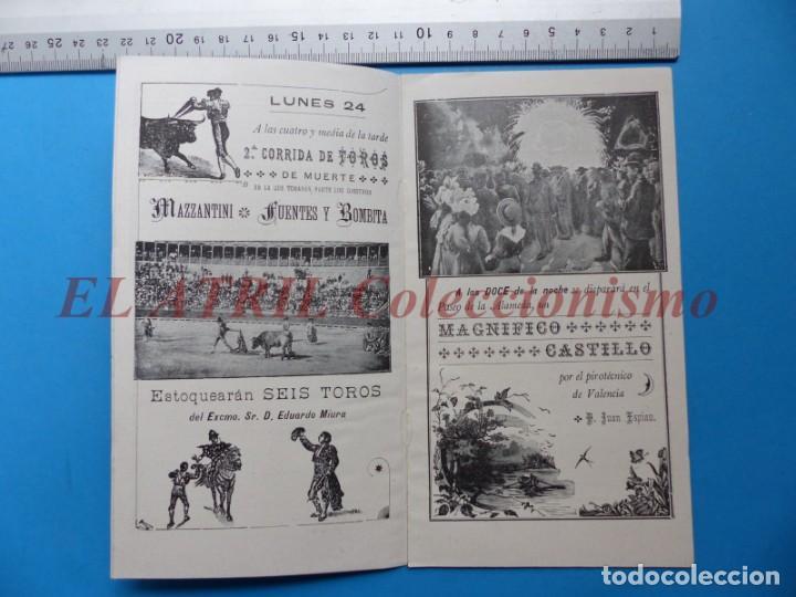 Folletos de turismo: PROGRAMA OFICIAL - VALENCIA - GRAN FERIA DE JULIO - AÑO 1899 - Foto 5 - 148287502