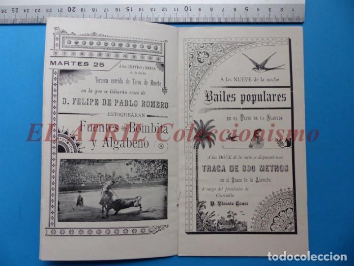 Folletos de turismo: PROGRAMA OFICIAL - VALENCIA - GRAN FERIA DE JULIO - AÑO 1899 - Foto 6 - 148287502