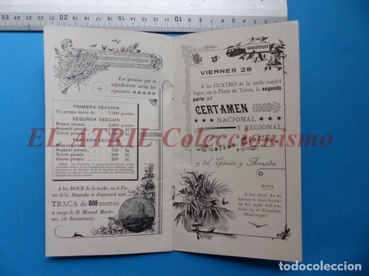 Folletos de turismo: PROGRAMA OFICIAL - VALENCIA - GRAN FERIA DE JULIO - AÑO 1899 - Foto 8 - 148287502
